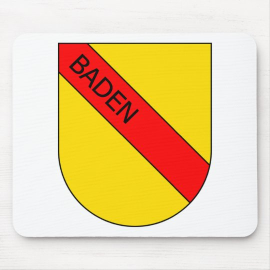 Badisches Wappen mit Schrift Mousepad