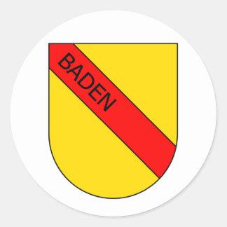 Badisches Wappen mit Schrift Runder Aufkleber