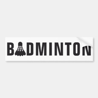 badminton autoaufkleber