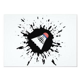 Badminton-Explosion 12,7 X 17,8 Cm Einladungskarte