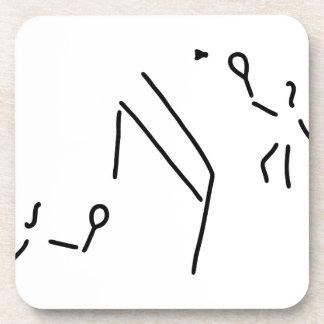 badminton federball spieler untersetzer