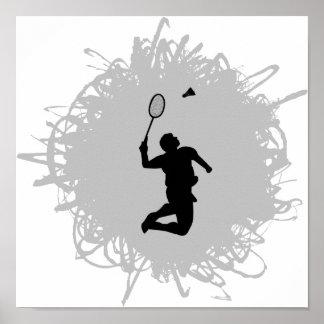 Badminton-Gekritzel-Art Poster