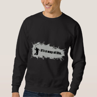 Badminton ist eine Lebensart Sweatshirt