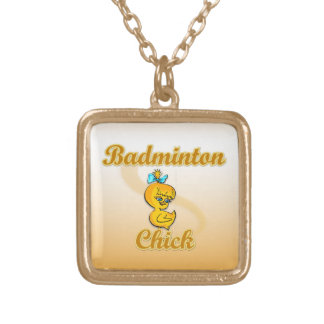 Badminton-Küken Vergoldete Kette