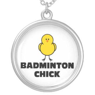 Badminton-Küken Versilberte Kette