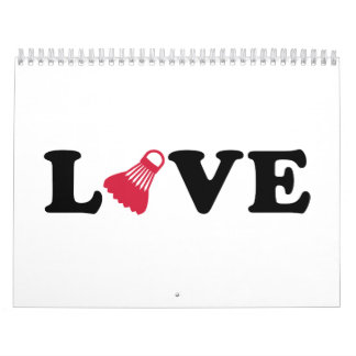 Badminton-Liebe Abreißkalender