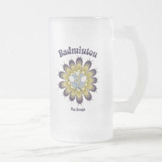 Badminton nicht mischt Blume Drogen bei Mattglas Bierglas