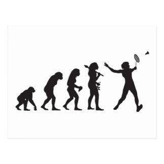 Badminton Postkarte