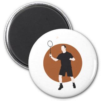 badminton runder magnet 5,7 cm