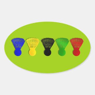 Badminton shuttlecock Sport Ovaler Aufkleber