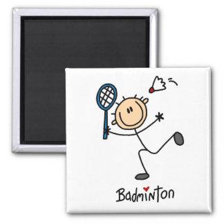 Badminton-Strichmännchen-Magnet Magnete