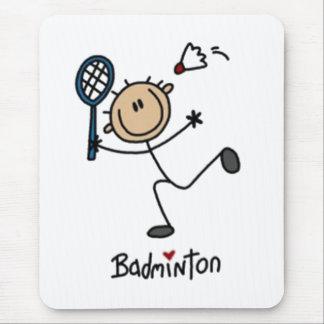 Badminton-Strichmännchen Mauspads