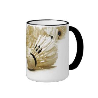 Badminton trägt Shuttle zur Schau Kaffeetasse