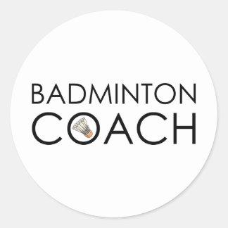 Badminton-Trainer Runder Aufkleber