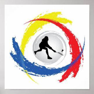 Badminton-Tricolor Emblem Poster