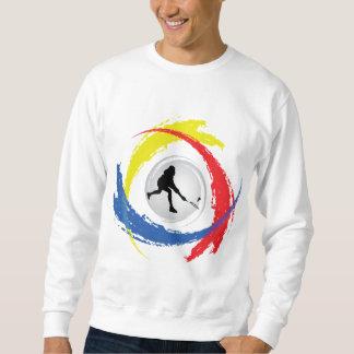 Badminton-Tricolor Emblem Sweatshirt