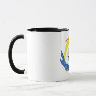 Badminton-Tricolor Emblem Tasse