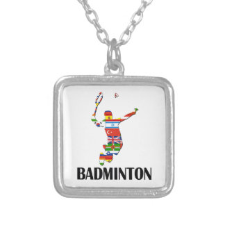 Badminton Versilberte Kette