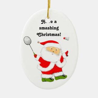 Badminton-Weihnachten sammelbar Keramik Ornament