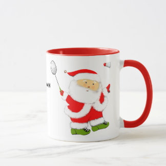 Badminton Weihnachten Tasse