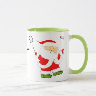 Badminton-Weihnachten Tasse