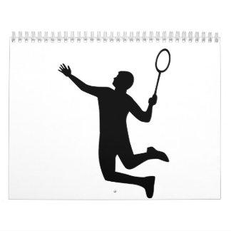 Badmintonspieler springen abreißkalender