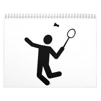 Badmintonspieler Wandkalender
