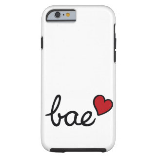 Bae Baby-Liebetext u. rotes Herz Tough iPhone 6 Hülle