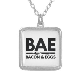 BAE Speck und Eier Versilberte Kette