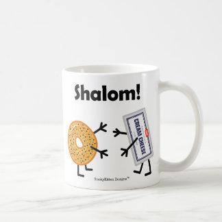 Bagel-u. Frischkäse - Shalom! Kaffeetasse