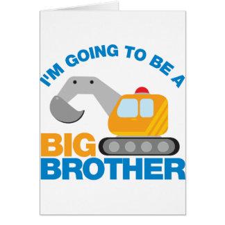 Bagger-LKW, der geht, ein großer Bruder zu sein Grußkarte
