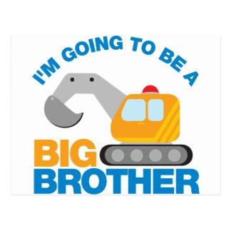 Bagger-LKW, der geht, ein großer Bruder zu sein Postkarte