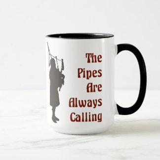Bagpipe-Tasse - die Rohre nennen immer Tasse