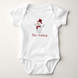 Bah Humbug - boshafter Schneemann - Weihnachten Baby Strampler