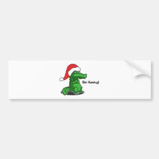Bah Humbug! Eingebildeter Cartoonalligator mit Autoaufkleber