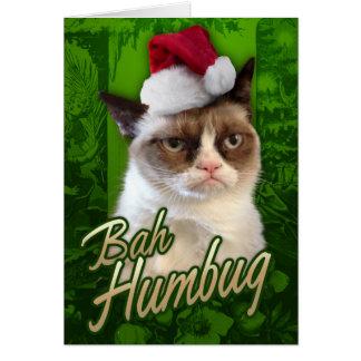 Bah Humbug-mürrische Katze Grußkarte