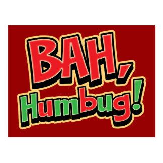 Bah Humbug-Postkarten Postkarte