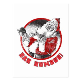 Bah Humbug! - Scrooge Weihnachtsmann Postkarte