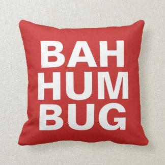 BAH HUMBUG - Weiß auf Rot Kissen