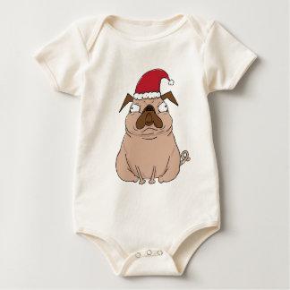 Bah Humpug Weihnachtssankt-Mops-Kleid Baby Strampler
