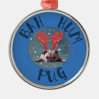 Bah Summen-Mops-Weihnachtssammlung Silbernes Ornament