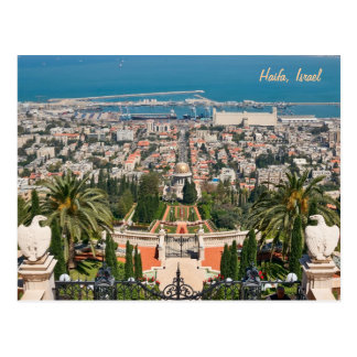 Bahá'í Gärten von Haifa, Israel Postkarten