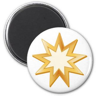 Baha'i Symbol Runder Magnet 5,7 Cm