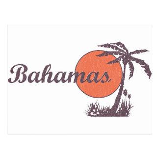 Bahama getragenes Retro Postkarte