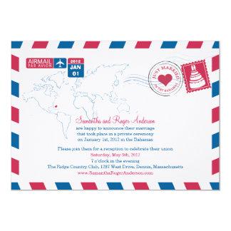 Bahama Luftpost-Posten-Hochzeits-Empfang 12,7 X 17,8 Cm Einladungskarte