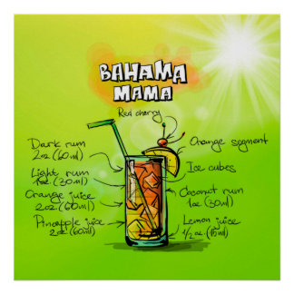 Bahama Mutter Cocktail Poster