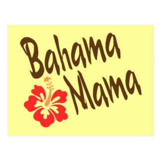 Bahama Mutter mit Hibiskus Postkarte