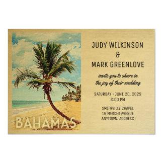 Bahamas, die Einladungs-Strand-Palme Wedding sind Karte