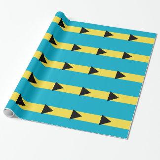 Bahamas-Flagge Geschenkpapier
