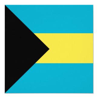 Bahamas-Flagge Karte
